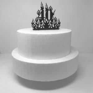 Topper per torta compleanno con numero anni.