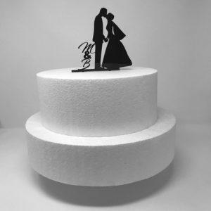 Topper per torta sposi con iniziali.