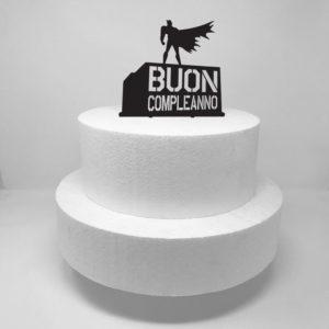 Topper per torta compleanno supereroi.