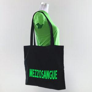 Shopper Cotone con scritta Mezzosangue - Fattilamaglietta.it