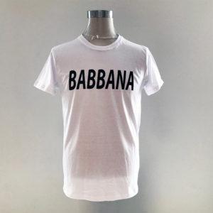 T-Shirt Cotone con scritta Babbana Fattilamaglietta.it